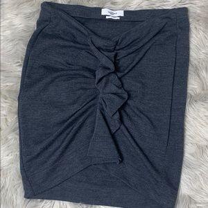 Isabel Marant gray ruffled skirt